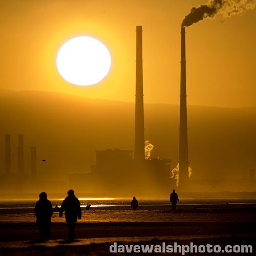 Ringsend, poolbeg, sunset, Dave Walsh