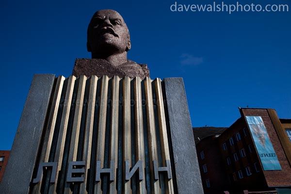 Bust of Lenin in Barentsburg, Svalbard