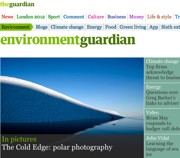 The Cold Edge, in the Guardian