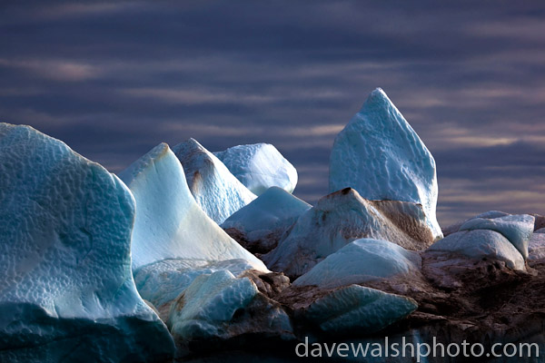 Iceberg: ice formations on an iceberg, Kane Basin, Northwest Greenland.