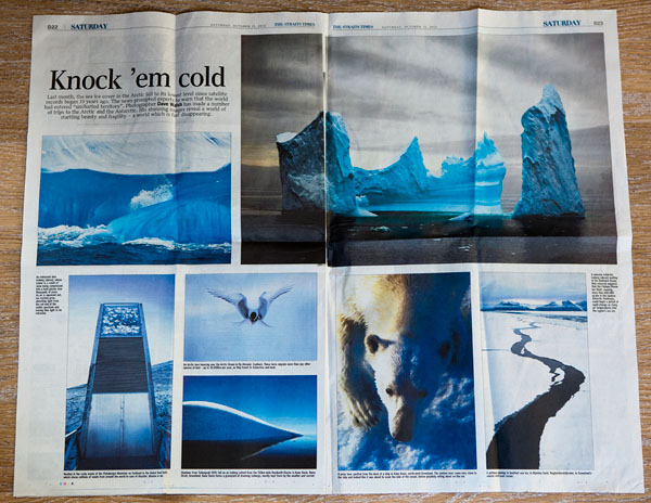 The Cold Edge by Dave Walsh in the Straits Times, Singapore