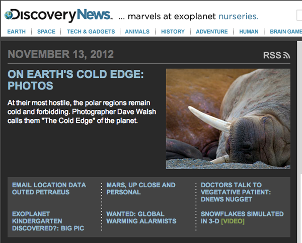 The Cold Edge by Dave Walsh on Discovery News