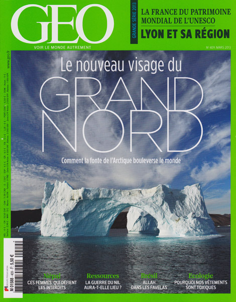 Geo France, March 2013, iceberg by Dave Walsh