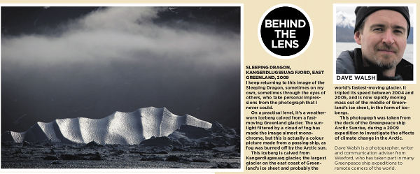 Dave Walsh's Iceberg photo in Irish Independent Weekend Magazine