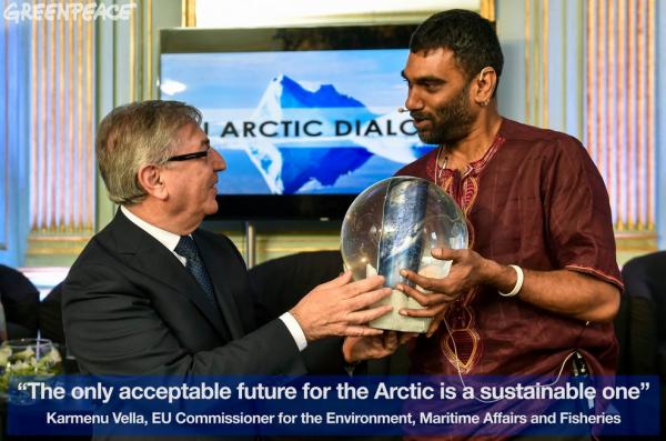 Kumi Naidoo and Karmuna Vella at Conserving the Arctic