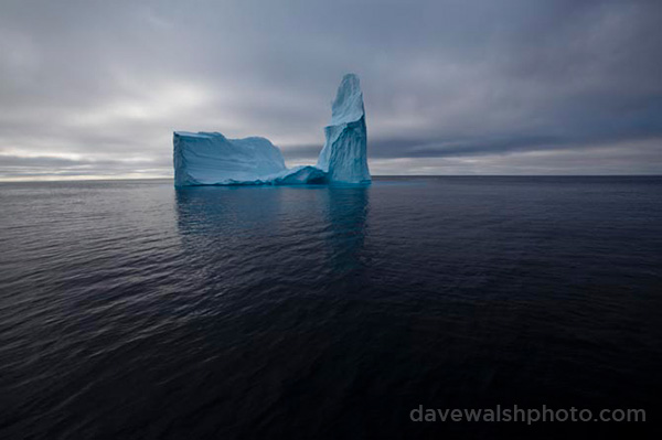 Cathedral iceberg, Baffin Bay, west of Greenland. by Dave Walsh