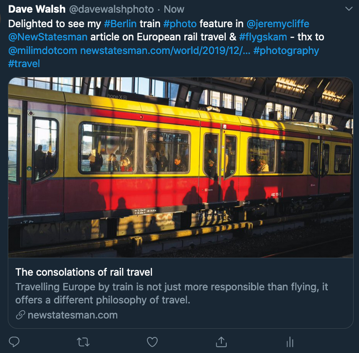 Tweet: The Consolations of rail travel