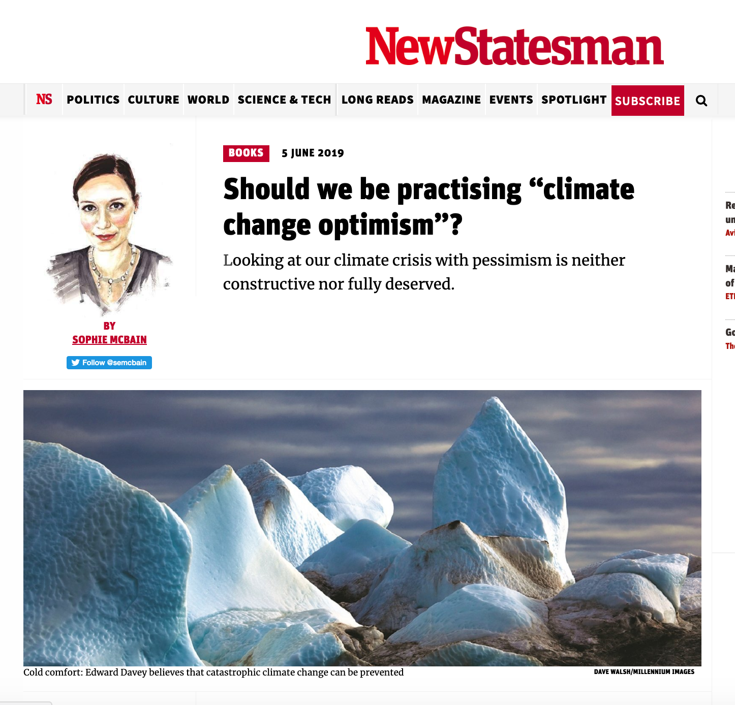 Climate change optimism New statesman Dave Walsh